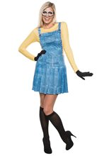 Picture of Minion Dress Adult Womens Costume