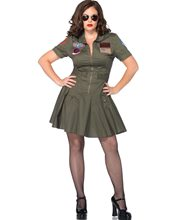 Picture of Top Gun Flight Dress Adult Womens Plus Size Costume