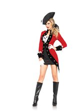 Picture of Rebel Red Coat Adult Womens Costume