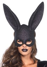 Picture of Black Glitter Masquerade Rabbit Mask