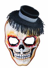 Picture of Day of the Dead Skull with Hat Mask