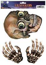 Picture of 3D Skull & Hands Window Stickers