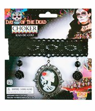 Picture of Day of the Dead Cameo Choker