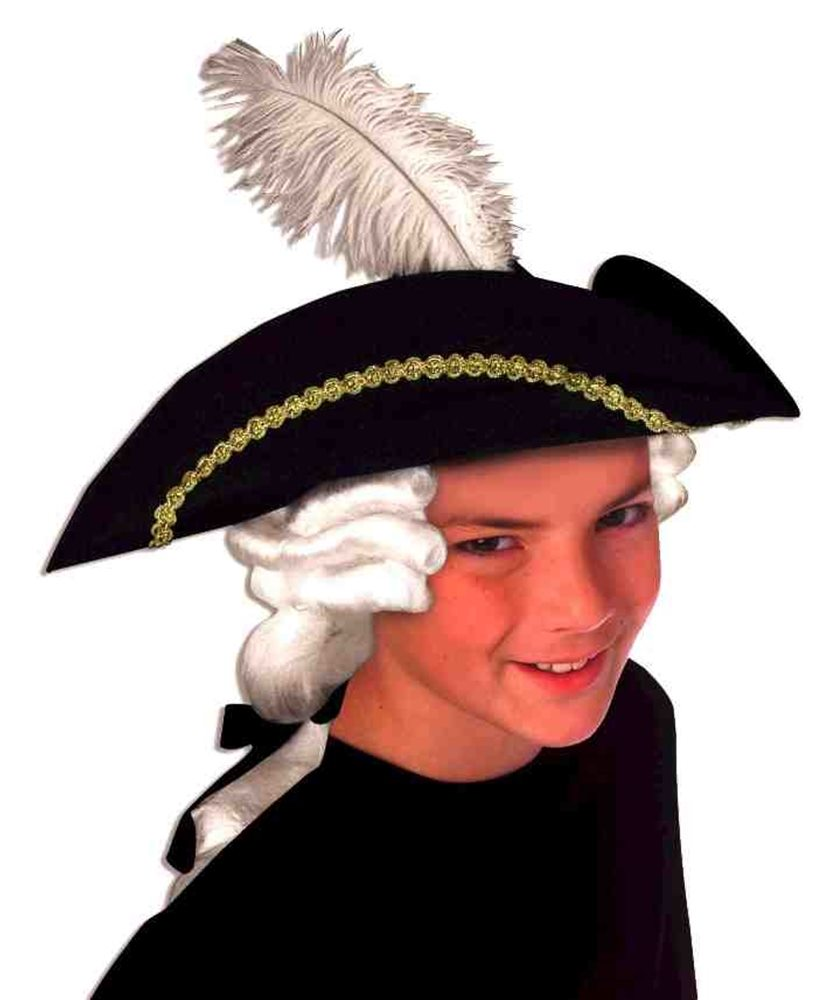 Picture of Colonial Child Hat with Wig