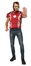 Picture of Avengers 2: Age of Ultron Iron Man Adult Mens Muscle Shirt & Mask