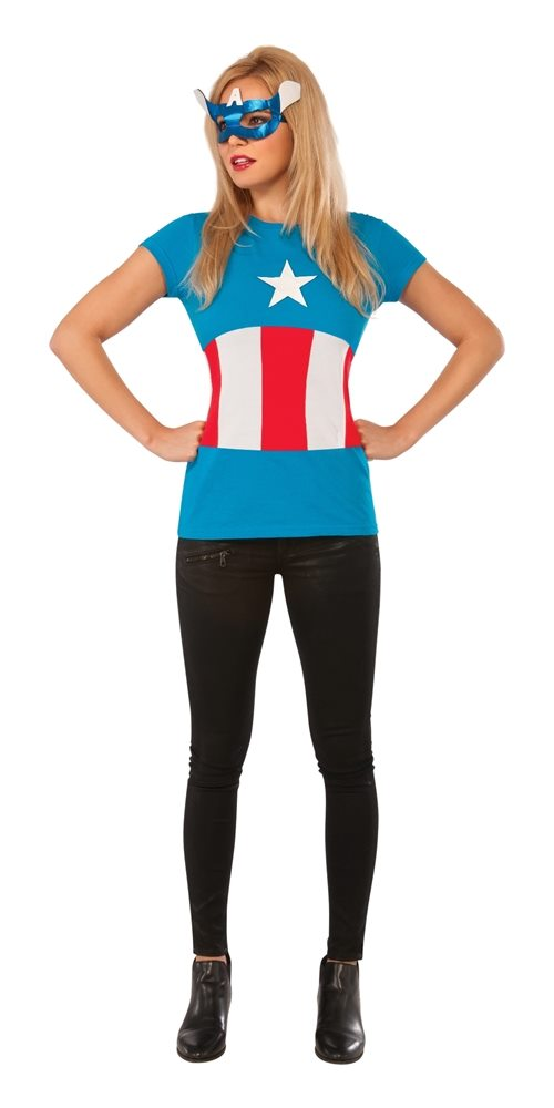 Picture of American Dream Classic Adult Womens Shirt & Mask