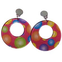 Picture of Circus Sweetie Polka Dot Earrings
