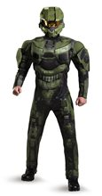 Picture of Halo Deluxe Master Chief Muscle Teen Costume