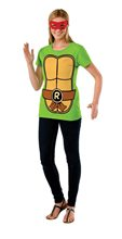 Picture of TMNT Raphael Adult Womens T-Shirt & Mask Set