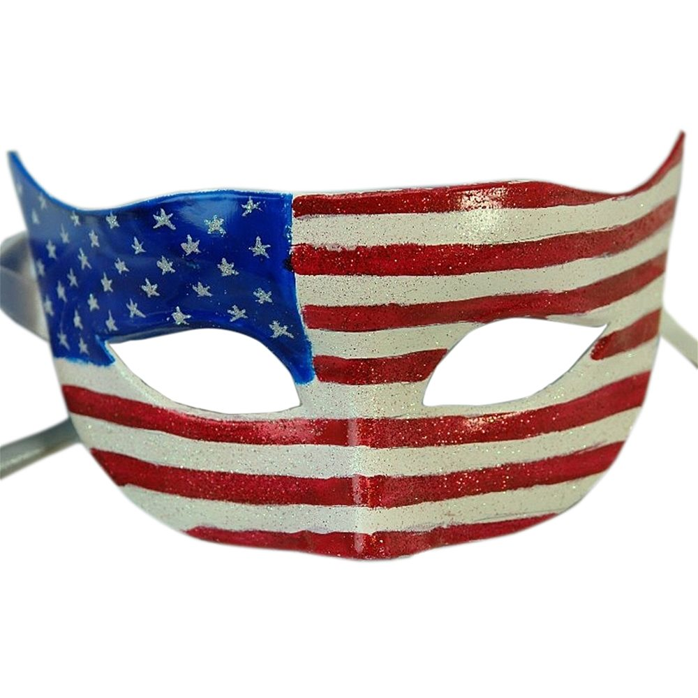 Picture of American Flag Masquerade Mask