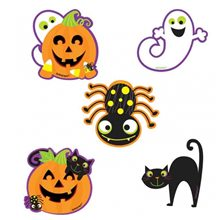 Picture of Halloween Mini Assorted Paper Cutouts 10ct