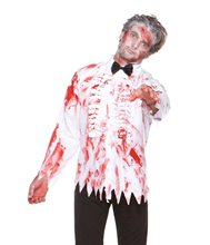 Picture of Bloody Prom Zombie Adult Mens Shirt