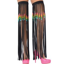 Picture of Electric Party Fringe Leg Warmers