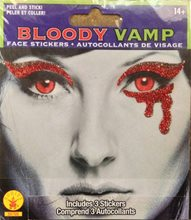 Picture of Bloody Vamp Face Tattoo
