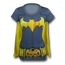 Picture of Batgirl Suit Up Juniors T-Shirt with Cape