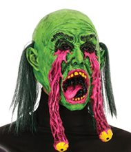 Picture of Green Witch Mask with Exploding Eye Sockets