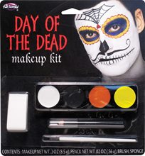 Picture of Day of the Dead Mustache Catrin Makeup Kit