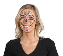 Picture of Day of the Dead Face Tattoos 9ct