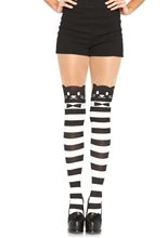 Picture of Fancy Cat Striped Spandex Pantyhose