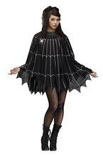Picture of Black & Silver Spiderweb Poncho