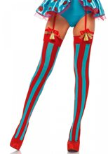 Picture of Red & Blue Striped Thigh Highs