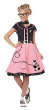 Picture of 50s Pink Poodle Girl Child Costume