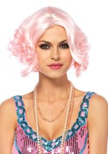 Picture of Curly Bob Pink Pastel Wig