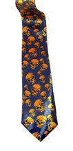 Picture of Blue & Orange Skull Tie