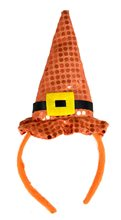 Picture of Orange Sequin Witch Hat Headband