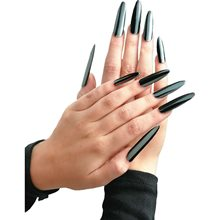 Picture of Metallic Black Nails