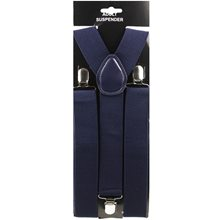 Picture of Navy Blue Wide Suspenders