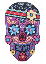 Picture of Carnival Skull Floral Doormat