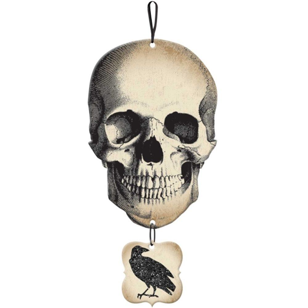 Picture of Boneyard Skull & Crow Hanging Sign