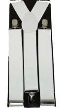 Picture of White Wide Suspenders