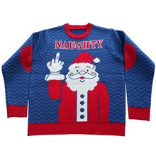 Picture of Naughty Santa Adult Ugly Christmas Sweater