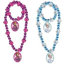 Picture of Frozen Beaded Necklace & Bracelet Set
