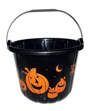 Picture of Black Halloween Candy Bucket