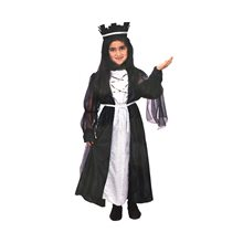 Picture of Black Medieval Queen Child Costume