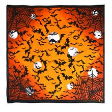 Picture of Bats & Spiderwebs Orange Bandana