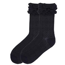 Picture of Byzantine Brocade Black Ruffle Socks