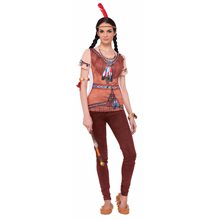 Picture of Instant Indian Princess Adult Womens T-Shirt