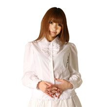 Picture of White Victorian Blouse with Ribbon Tie