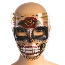 Picture of Day of the Dead Rose Transparent Mask