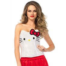 Picture of Hello Kitty Adult Womens Sequin Bustier