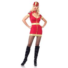 Picture of Red Hot Flirty Firefighter Adult Womens Costume