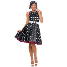 Picture of Hot 50s Polka Dot Adult Womens Costume
