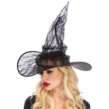 Picture of Black Lace Witch Hat