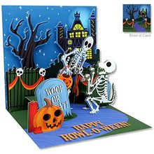 Picture of Happy Howl-O-Ween Pop-Up Greeting Card