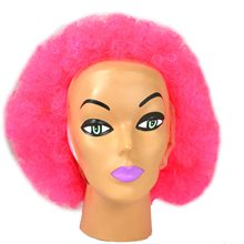 Picture of Hot Pink Carnival Afro Wig