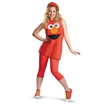 Picture of Elmo Big Head Vest Tween Costume